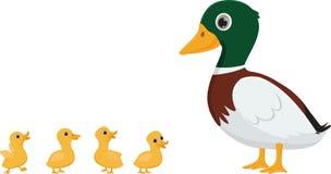 鸭子家庭动画片 皇族释放例证