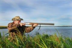 鸭子射击 库存图片