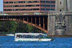 鸭子小船浏览,波士顿,麻省 图库摄影
