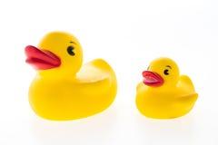 鸭子橡胶玩具黄色 免版税图库摄影