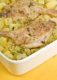 鸭子烤的行程土豆 库存图片