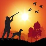 鸭子猎人 向量例证