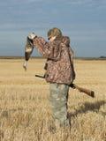 鸭子猎人 库存照片