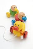 鸭子玩具森林 免版税库存图片