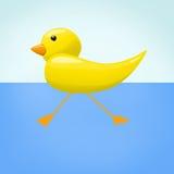 鸭子的例证在水中 库存图片