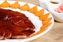 鸭子食物 免版税库存照片