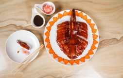 鸭子食物 免版税图库摄影
