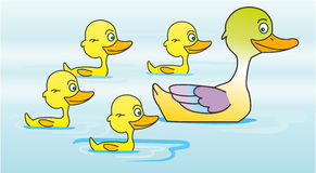 鸭子鸭子 向量例证