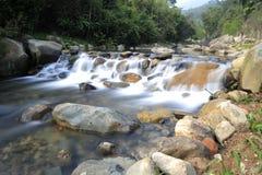 鸳鸯小河瀑布  库存照片