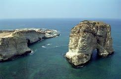 鸽子岩石, Beyruth,黎巴嫩 库存照片