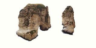 鸽子岩石(Raouche),贝鲁特,黎巴嫩 图库摄影