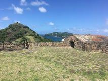 鸽子海岛国家公园圣卢西亚 图库摄影