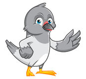 鸽子漫画人物 库存照片