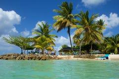 鸽子点海滩,多巴哥 免版税库存照片