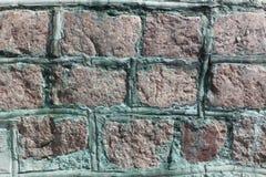 鹅卵石墙壁背景 免版税库存照片