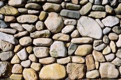 鹅卵石墙壁 免版税库存照片