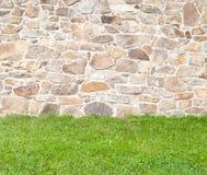 鹅卵石墙壁 免版税库存图片