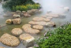 鹅卵石庭院 库存图片