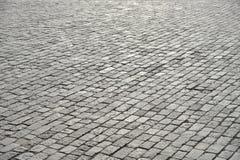 鹅卵石老路面 免版税库存照片