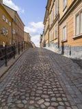 鹅卵石胡同在斯德哥尔摩 库存图片