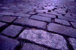 鹅卵石街道 免版税图库摄影