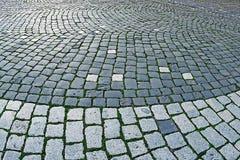 鹅卵石边路由立方体石头2做成 库存图片