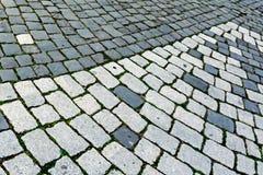 鹅卵石边路由立方体石头3做成 免版税库存图片