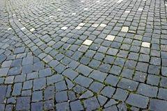 鹅卵石边路由立方体石头9做成 库存照片