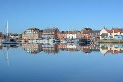 鹅岭小游艇船坞,在南安普敦附近,汉普郡,英国 库存图片