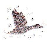 以鹅的形式人们 免版税图库摄影