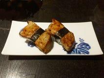 鹅肝寿司 免版税库存图片