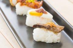 鹅肝寿司 库存图片