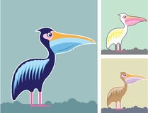 鹈鹕传染媒介例证颜色 免版税图库摄影