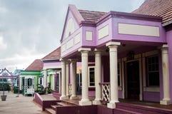 鹈鹕制作大厦,布里季敦,巴巴多斯的工艺中心 免版税库存照片