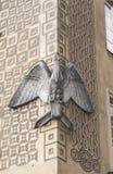 鹈鹕雕塑 免版税库存照片