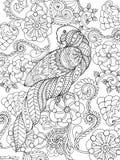 鹦鹉在幻想庭院里 免版税库存图片