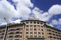 鹭江旅馆在蓝天下 库存照片