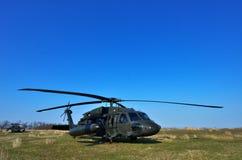 黑鹰战斗的直升机 免版税库存照片