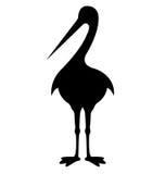 鹳鸟剪影 免版税库存图片