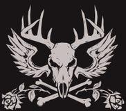 鹿两骨交叉图形 皇族释放例证