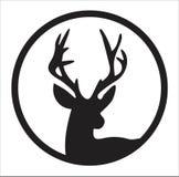 鹿剪影 库存照片