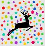 鹿在欢乐遮蔽 库存图片