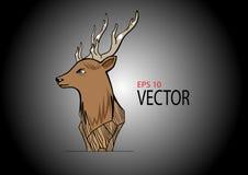 鹿木头雕刻 库存照片