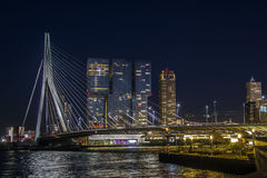 鹿特丹在夜之前 免版税库存照片
