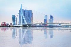 鹿特丹江边  库存图片