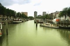 鹿特丹码头,荷兰;欧洲 免版税库存照片