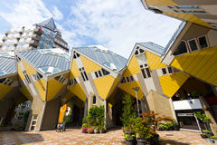 鹿特丹立方体房子 免版税图库摄影