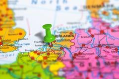 鹿特丹荷兰地图 库存图片
