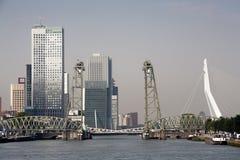 鹿特丹都市风景南银行 免版税库存照片