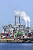 鹿特丹,荷兰集装箱码头港  免版税库存照片